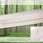 Grafkist van massief naaldhout